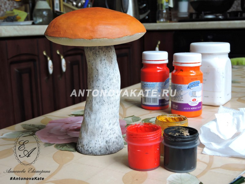 Декоративный гриб своими руками 68